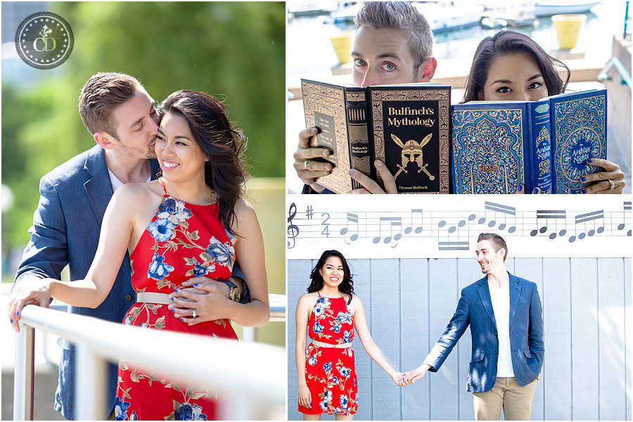 music garden engagement